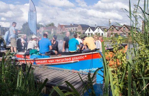 Foto Van Sloep Varen Rotterdam Teamuitje