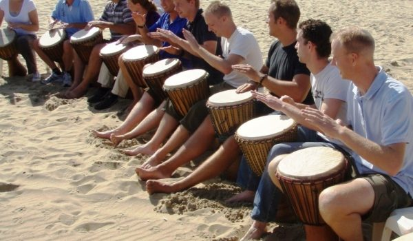 Teamuitje Muziek Workshop Rotterdam Strand